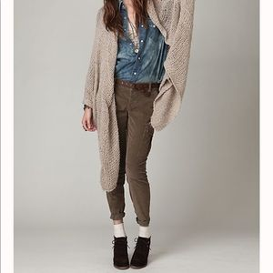 Free People Skinny Military Cord Cargo